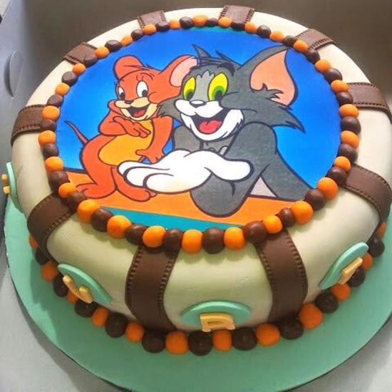 Fabulous Buy Tom Jerry Designer Fondant Cake Online In Gurugram From Birthday Cards Printable Trancafe Filternl