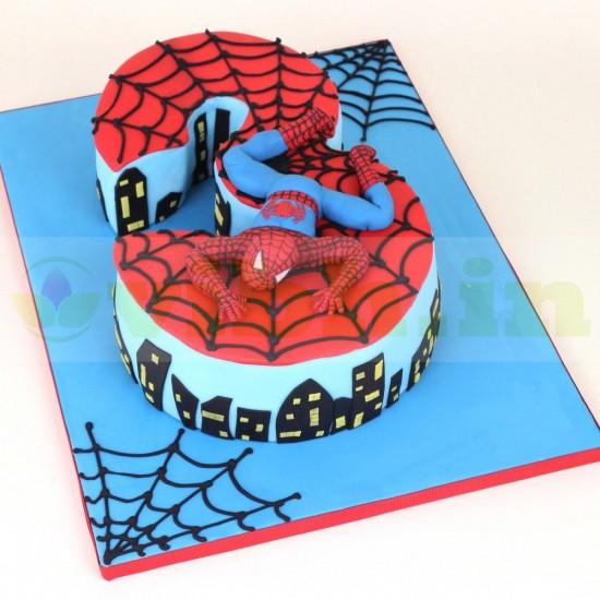 Amazing Order 3Rd Birthday Spiderman Theme Cake Online In Gurugram From Funny Birthday Cards Online Drosicarndamsfinfo