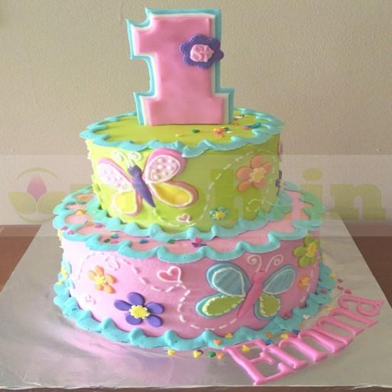 Awe Inspiring Buy 1St Birthday 2 Tier Designer Cake Online In Gurugram From Funny Birthday Cards Online Alyptdamsfinfo